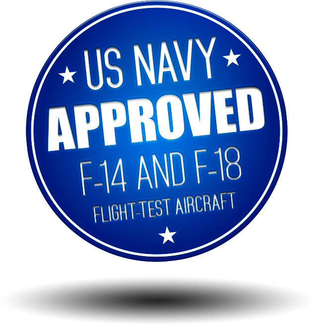 US NAVY Approved for F-14 & F-18 flight-test aircraft.